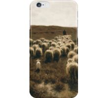 The Return of the Flock at Laren by Anton Mauve 1886-1887 iPhone Case/Skin