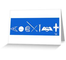 COEXIST SCI FI VERSION 2015 Greeting Card