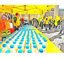 Milk bottles Photographic Print
