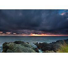 Stormy Sunrise Louisbourg Nova Scotia Canada Photographic Print