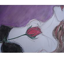 Seduce Me With A Rose Photographic Print