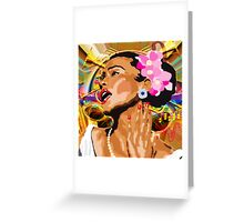 JAZZ SINGER Greeting Card