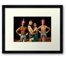 jeff and dean  Framed Print