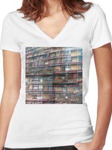 CAM02250-CAM02253_GIMP_B Women's Fitted V-Neck T-Shirt