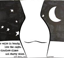 She Walks in Beauty by MixedMediaInk