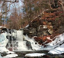 Winter Ending at Sheldon Reynolds Falls by Gene Walls