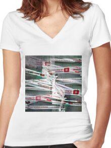 CAM02254-CAM02257_GIMP_A Women's Fitted V-Neck T-Shirt