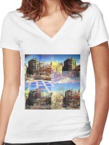 CAM02282-CAM02285_GIMP_C Women's Fitted V-Neck T-Shirt