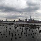 Abandoned Pier, Hudson River, Lower Manhattan Skyline, World Trade Center, New York City by lenspiro