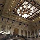 Classic Architecture, Waiting Room, Historic Hoboken Terminal, Hoboken, New Jersey by lenspiro