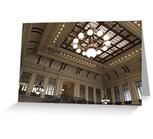 Classic Architecture, Waiting Room, Historic Hoboken Terminal, Hoboken, New Jersey Greeting Card