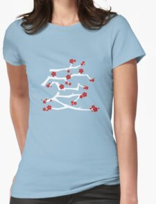 Red Sakura Cherry Blossoms Chinese Ai / Love (White) T-Shirt