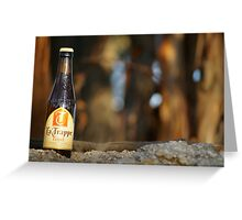 beer in the bush Greeting Card