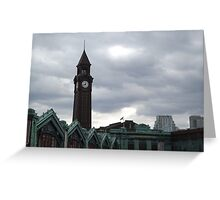 Classic Architecture, Historic Hoboken Terminal, Ferry and Train Terminal,Hoboken, New Jersey Greeting Card