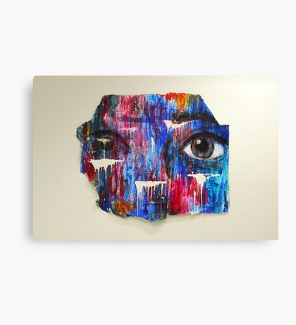 Coloured and Plastered 2 Canvas Print
