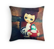 Two Dolls Together Too Throw Pillow