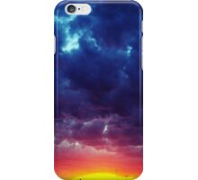 red and blue Clouds iPhone Case/Skin