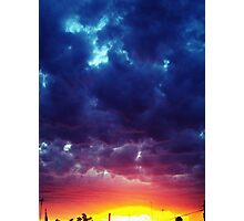 red and blue Clouds Photographic Print