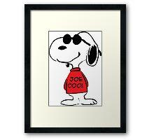 Snoopy in Joe Cool Framed Print