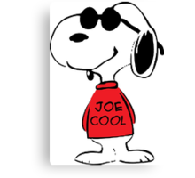 Snoopy in Joe Cool Canvas Print
