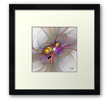 'Light Flame Abstract 083' Framed Print