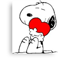 Snoopy in love Canvas Print