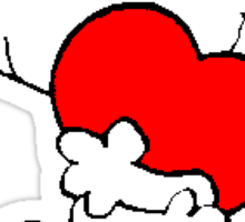 Snoopy in love Sticker