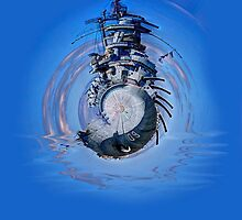 Battleship - Contemporary Digital Art by Barry  Jones