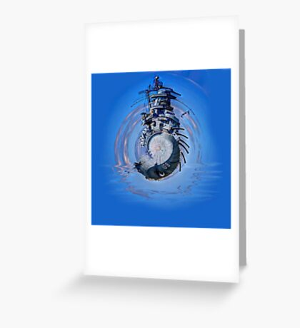 Battleship - Contemporary Digital Art Greeting Card