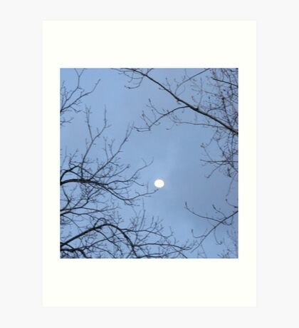 TREE TRIES TO TOUCH THE MOON Art Print