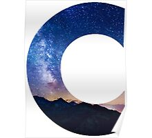 The Letter C - night sky Poster