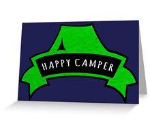 Happy Camper. Greeting Card