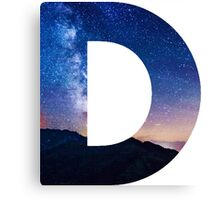 The Letter D - night sky Canvas Print