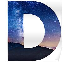 The Letter D - night sky Poster
