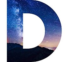 The Letter D - night sky Photographic Print