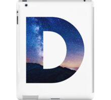 The Letter D - night sky iPad Case/Skin