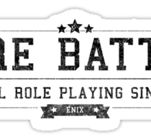 Ogre Battle - Retro Black Dirty Sticker