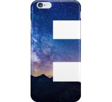 The Letter E - night sky iPhone Case/Skin
