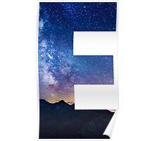 The Letter E - night sky Poster