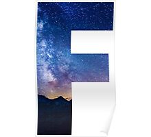 The Letter F - night sky Poster
