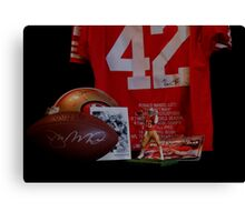 49er GREATS Canvas Print