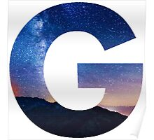 The Letter G - night sky Poster