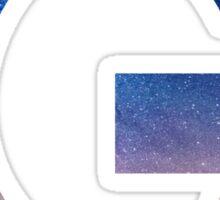 The Letter G - night sky Sticker