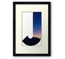The Letter J - night sky Framed Print