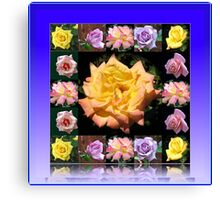 Summer Roses Collage Canvas Print
