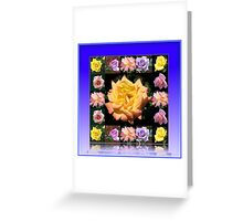 Summer Roses Collage Greeting Card