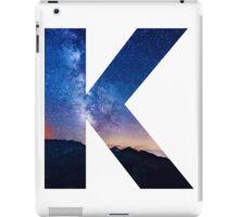 The Letter K - night sky iPad Case/Skin