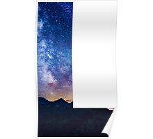 The Letter L - night sky Poster