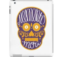 Memento mori sugar skull iPad Case/Skin