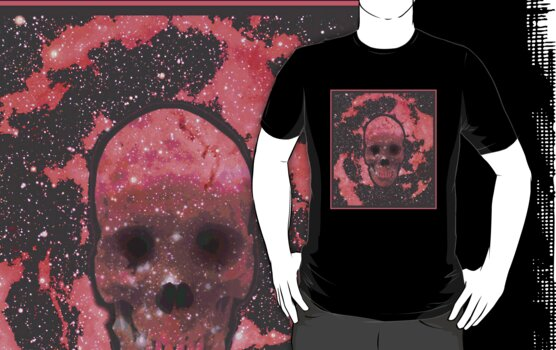 Red Nebula Skull by TrippyCat